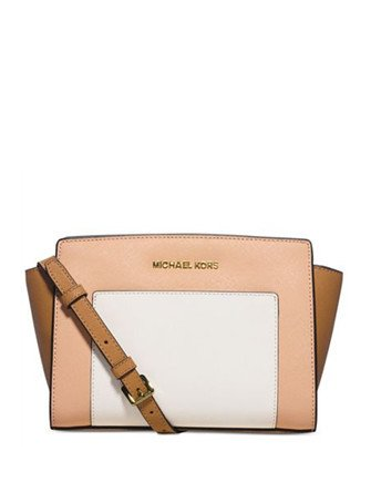 Michael Michael Kors Tri Color Selma Medium Messenger