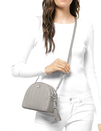 f30ac75ccd4b Michael Michael Kors Quilted Leather Half Moon Crossbody