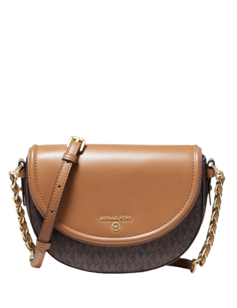 Michael Michael Kors Signature Half Dome Chain Crossbody
