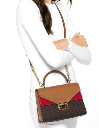 c907a61b4285c1 Michael Michael Kors Signature Sloan Top Handle Satchel | Brixton Baker