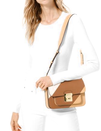 Michael Michael Kors Sloan Editor Tricolor Shoulder Bag