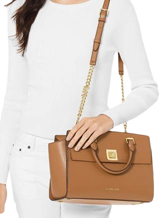 Michael Michael Kors Sylvia Medium Crossgrain Leather Satchel