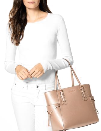 7d6a66dda4f3cc Michael Michael Kors Voyager East West Crossgrain Leather Tote ...