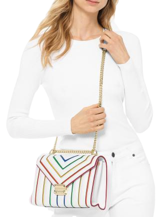 Michael Michael Kors Whitney Rainbow Leather Shoulder Bag