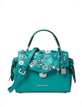 Michael Michael Kors Bristol Small Floral Applique Satchel