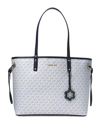 a21210dba727 ... official michael michael kors carter signature large reversible tote  0ac31 e04b8