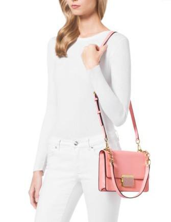 Michael Michael Kors Cynthia Small Leather Shoulder Bag