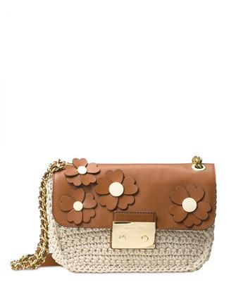 Michael Michael Kors Flora Applique Sloan Large Chain Shoulder Bag