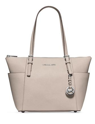 Michael Michael Kors East West Jet Set Saffiano Top Zip Large Tote