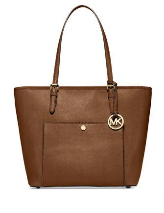 Michael Michael Kors Jet Set Item Large Top Zip Pocket Tote