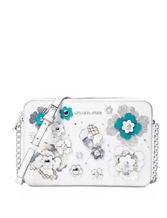 Michael Michael Kors Large Jet Set Floral Embellished Crossbody