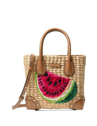Michael Michael Kors Malibu Medium Straw Crossbody