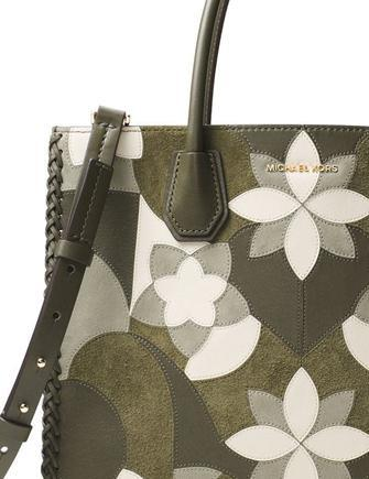 Michael Michael Kors Mercer Large Patchwork Convertible Tote