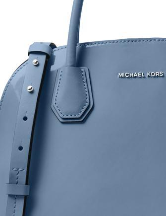 Michael Michael Kors Mercer Patent Large Dome Satchel
