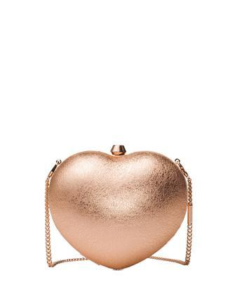 Michael Michael Kors Pearlized Small Heart Box Clutch