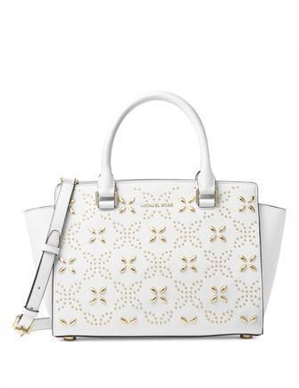 Michael Michael Kors Selma Medium Floral Top Zip Satchel