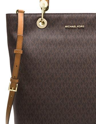 Michael Michael Kors Signature Raven Large North South Top Zip Tote