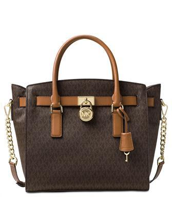 Michael Michael Kors Signature Studio Hamilton Large East West Satchel