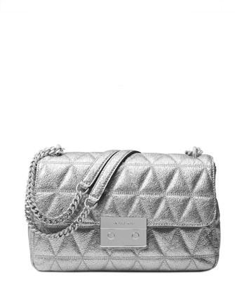 Michael Michael Kors Sloan Large Chain Metallic Shoulder Bag