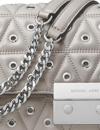 Michael Michael Kors Sloan Large Grommet Chain Shoulder Bag