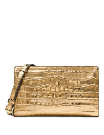Michael Michael Kors Metallic Large Crossbody Clutch