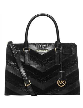 Michael Michael Kors East West Mixed Media Chevron Python Dillon