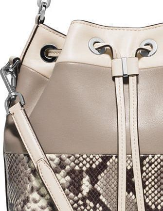 Michael Michael Kors Dottie Large Colorblock Python Bucket Bag
