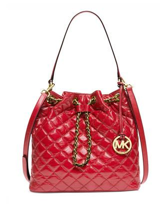 Michael Michael Kors Frankie Quilted Leather Large Shoulder Bag