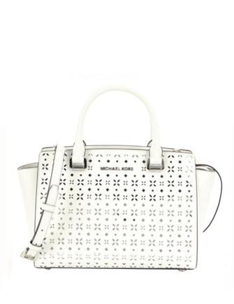 Michael Michael Kors Perforated Floral Medium Selma Satchel