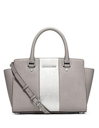 Michael Michael Kors Metallic Center Stripe Selma Med Satchel