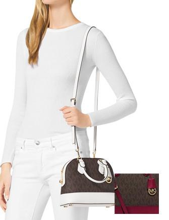 Michael Michael Kors Smythe Small Signature Dome Satchel