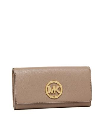 Michael Michael Kors Fulton Gusset Carryall Leather Snap Wallet