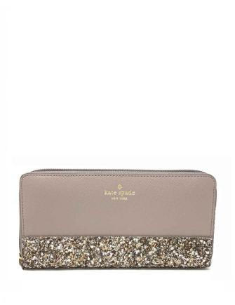 Kate Spade New York Greta Court Neda Glitter Zip Around Wallet