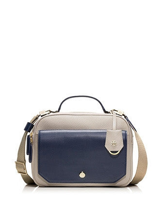 Tory Burch Ellen Colorblock Top Handle Camera Bag Crossbody