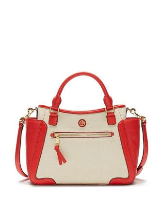 Tory Burch Frances Canvas Small Satchel