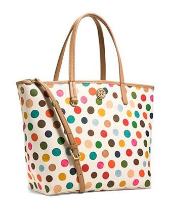Tory Burch Kerrington Dot Print Mini Square Tote