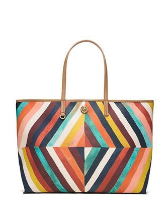 Tory Burch Kerrington Graphic Diamond Printed Square Tote