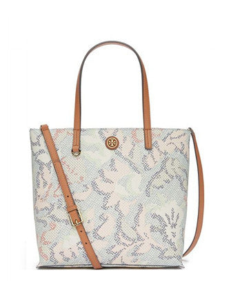 Tory Burch Kerrington Mini Square Floral Print Tote