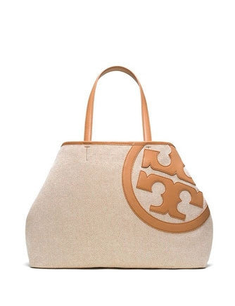 Tory Burch Lonnie Logo Front Canvas Tote
