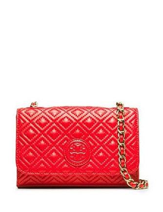 Tory Burch Quilted Leather Marion Shrunken Shoulder Bag