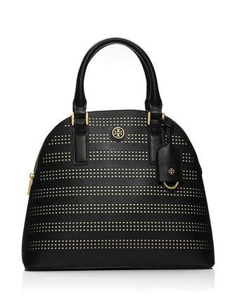 Tory Birch Robinson Perforated Zip Top Dome Satchel