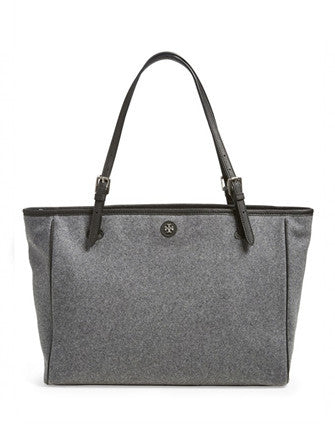 Tory Burch York Flannel Buckle Tote