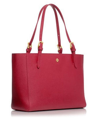 Tory Burch York Small Buckle Saffiano Tote