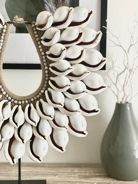 White Cowrie Papua Necklace