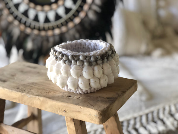 Beaded Shell Basket