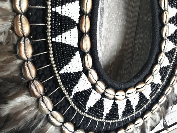 Tribal Feather and Shell Necklace