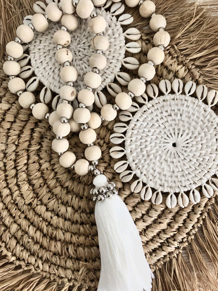 Natural Beaded Tassel