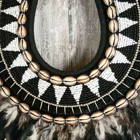 Tribal Feather And Shell Necklace Beachy Things