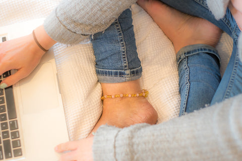 Childrens Amber Bracelet - Winter Dream