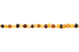 Adult amber anklet raw multicolour